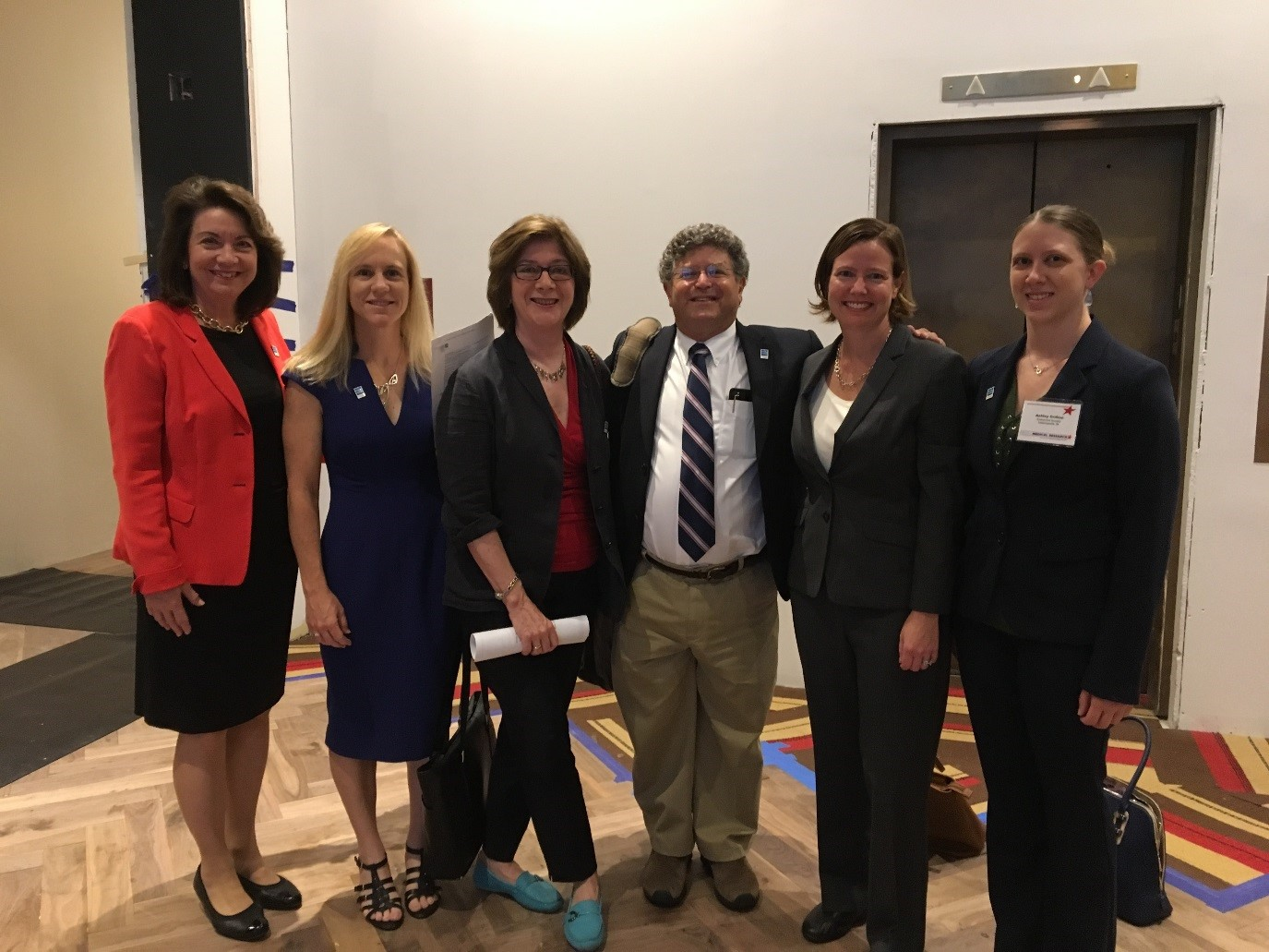 Endocrine Society members Drs. Cynthia Stuenkel, Heather Patisaul, Margaret Eckert-Norton, Daniel Oppenheim, Elizabeth Austen Lawson, and FLARE Fellow Ashley Orillion head to Capitol Hill to support NIH funding.
