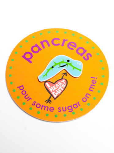 Gland Lapel Pin - Pancreas